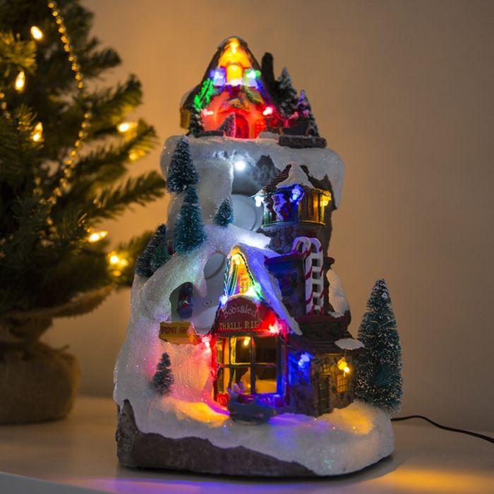 Casa-navideña-PISTA-LED-multicolor