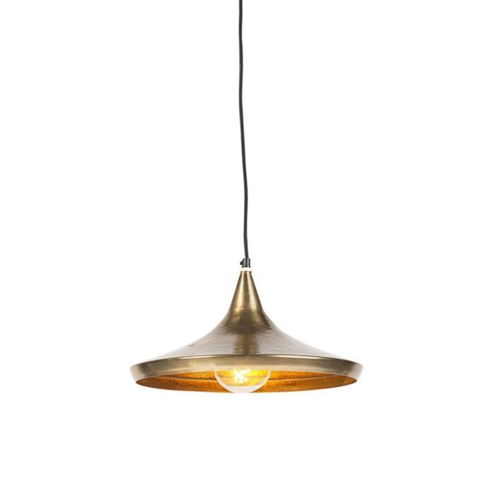 Lámpara-colgante-vintage-dorada---Duke-A
