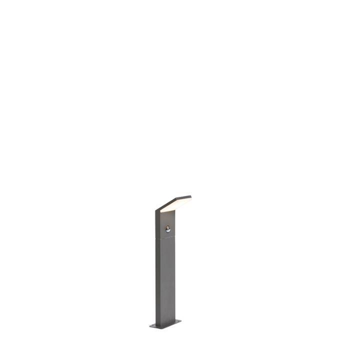Baliza-moderna-gris-oscuro-50cm-con-detector-de-movimiento-IP44-LED---MAPI