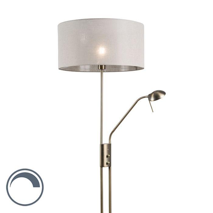 Lámpara-de-pie-LUXOR-bronce-50cm-taupe