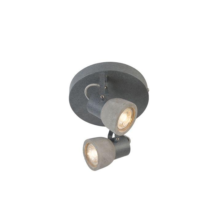 Plafón-de-2-focos-rústico-redondo-hormigón---CRETO-2