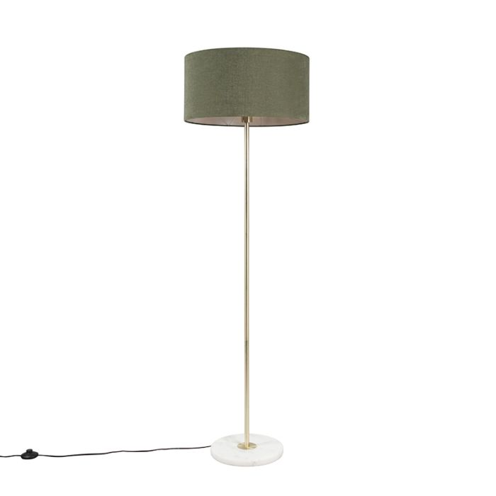 Lámpara-de-pie-de-latón-con-pantalla-verde-50-cm---Kaso