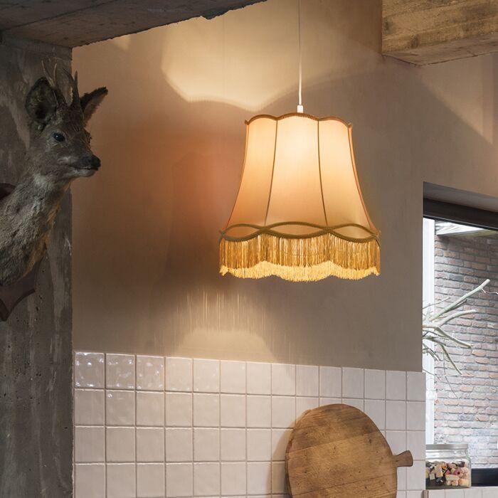 Lámpara-colgante-retro-dorada-45-cm---Granny