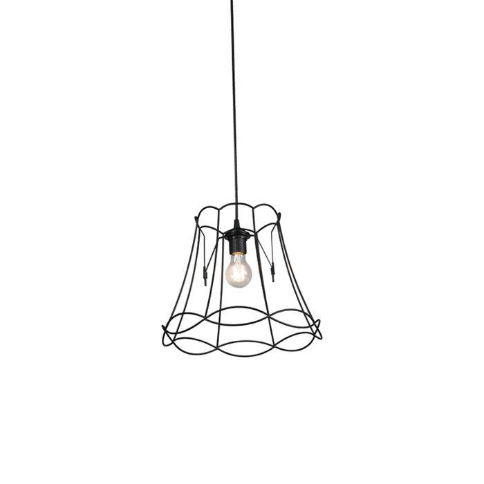 Lámpara-colgante-retro-negra-35cm---GRANNY-Frame