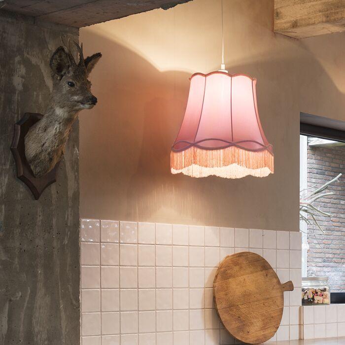 Lámpara-colgante-retro-rosa-45-cm---Granny