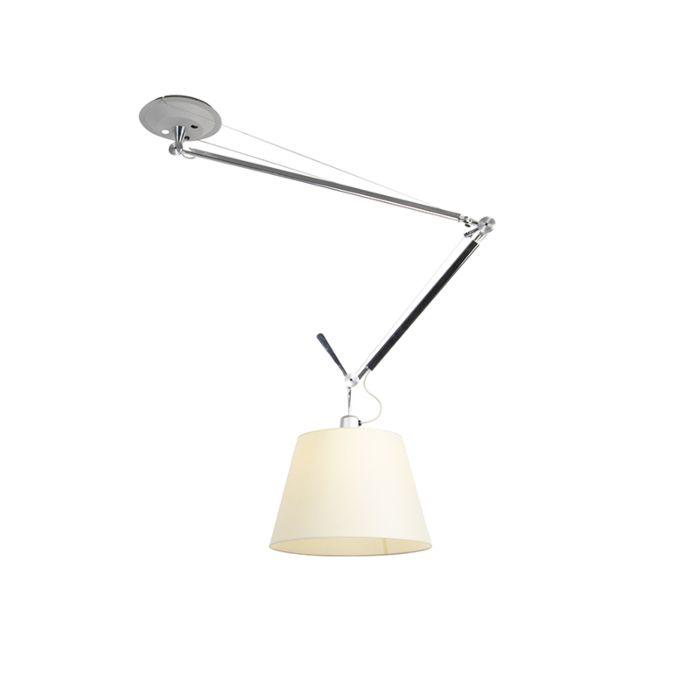 Lámpara-colgante-con-pantalla---ARTEMIDE-Tolomeo-Sospensione-Decentrata