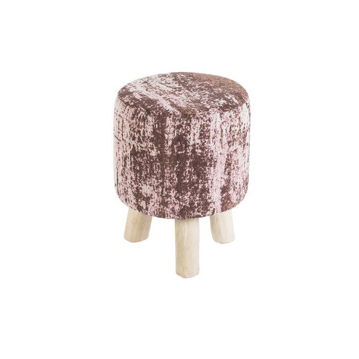 Taburete-redondo-vintage-rosa-envejecido-30-x-30-x-40cm---KOCHI