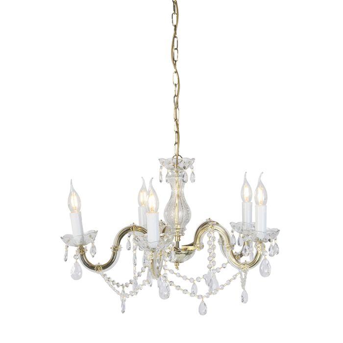 Lámpara-de-araña-cristal-redonda-vintage-con-brazos-en-S-5-luces---MARIE-THERESA