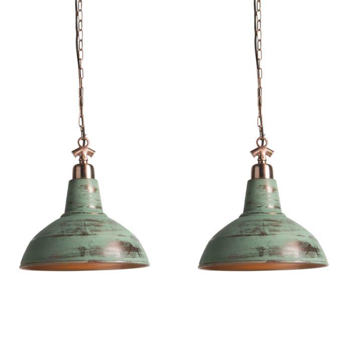 Set-de-2-lámparas-colgante-GOLIATH-grande-cobre-envejecido