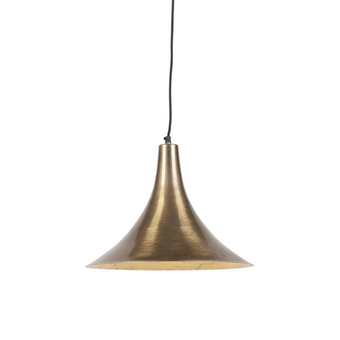 Lámpara-colgante-vintage-dorada---Duke-D