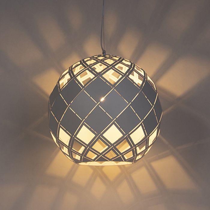 Lámpara-colgante-Art-Dèco-blanca---TOURMALINE