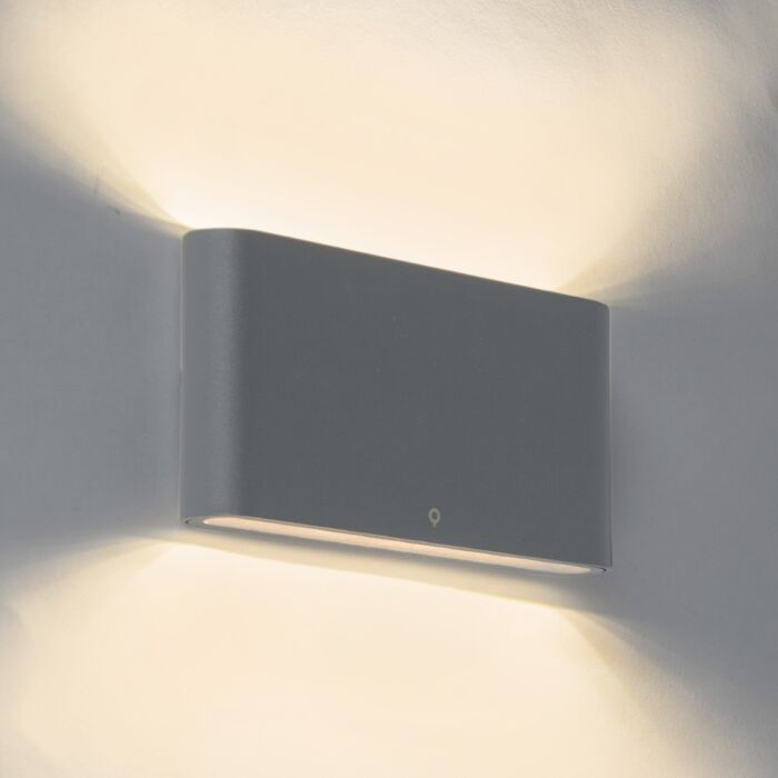 Aplique-moderno-gris-oscuro-17.5cm-LED-IP65---BATT