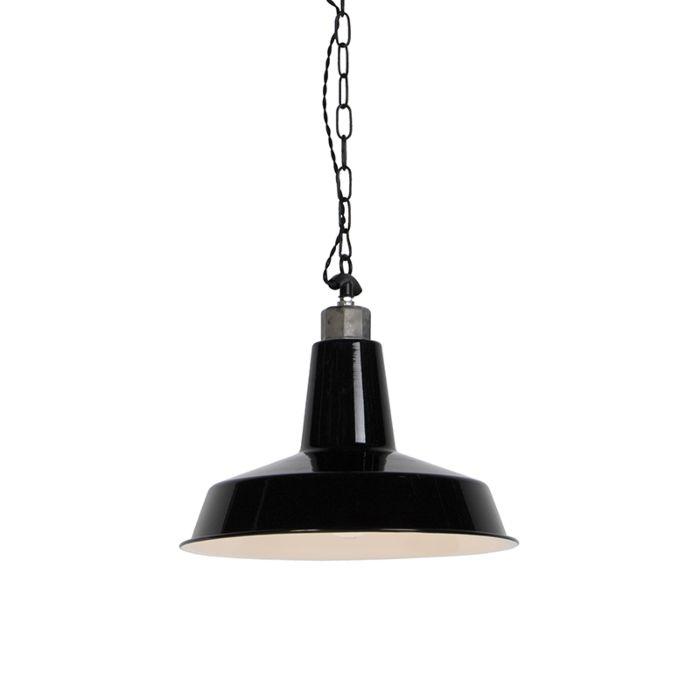 redonda industrial MANHATTAN negra colgante Lámpara vm0nOwN8