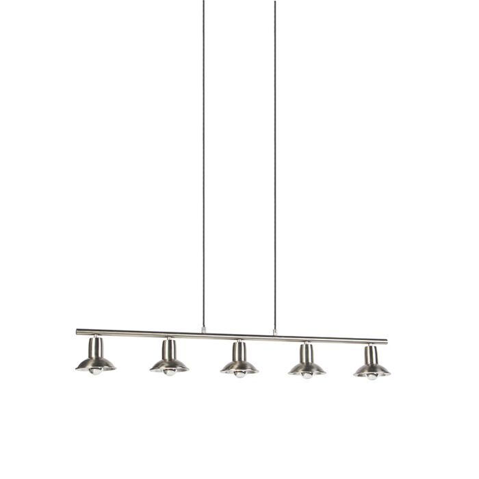 Lámpara-colgante-de-diseño-plateada-5-luces---Avril