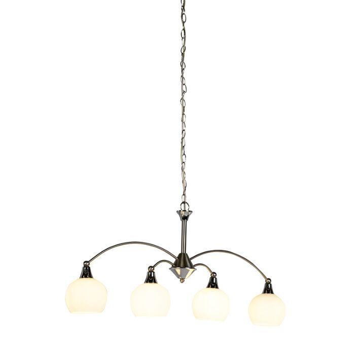 Lámpara-colgante-Art-Deco-acero-4-luces---SANT