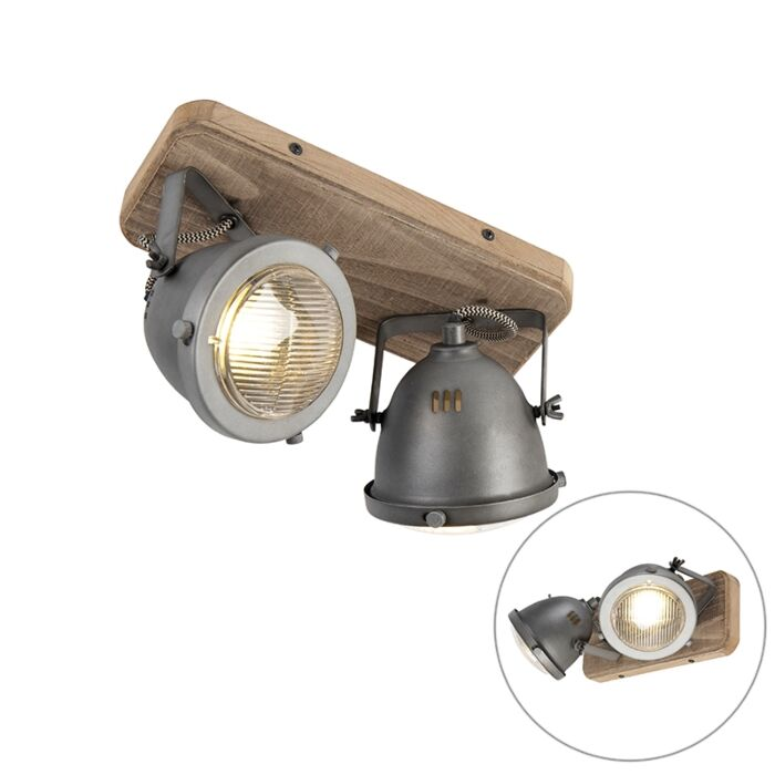 Plafón-industrial-acero-madera-orientable-2-luces---EMADO
