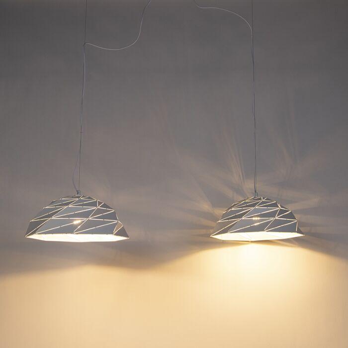 Lámpara-colgante-Art-Dèco-blanca-2-luces---LAZULI
