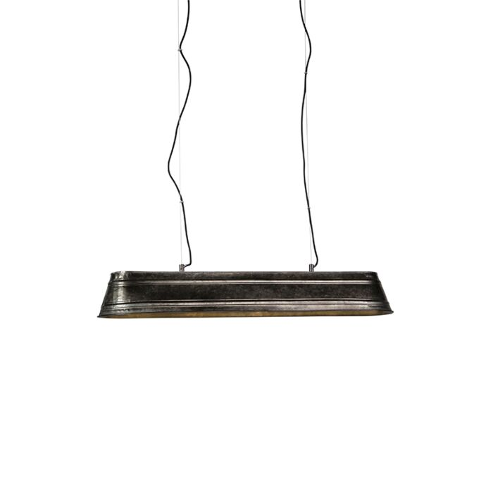 Lámpara-colgante-industrial-oblonga-acero-4-luces---Canalón