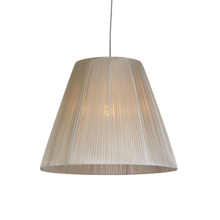 Lámpara-colgante-moderna-con-pantalla-gris---OLSEN