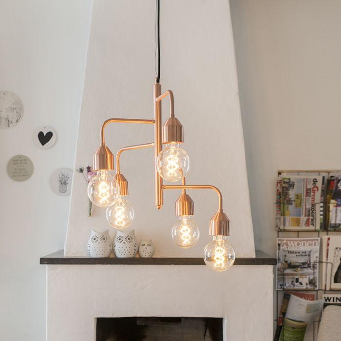 Lámpara-colgante-cobre-5-luces---DARREN