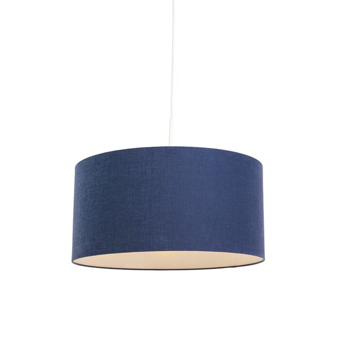 Lámpara-colgante-moderna-blanca-pantalla-azul-envejecido-50cm---COMBI-1