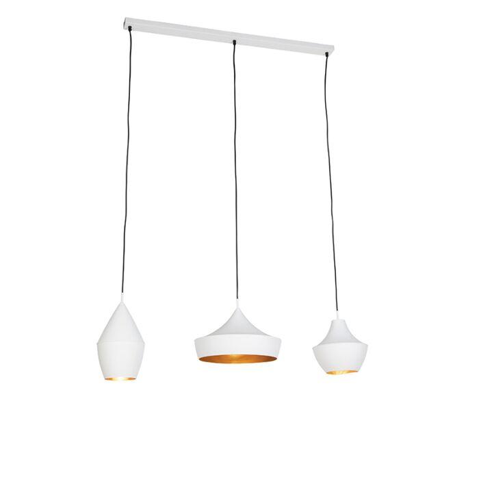 Lámpara-colgante-blanca-moderna-con-interior-dorado-placa-de-montaje-rectangular---EMILY