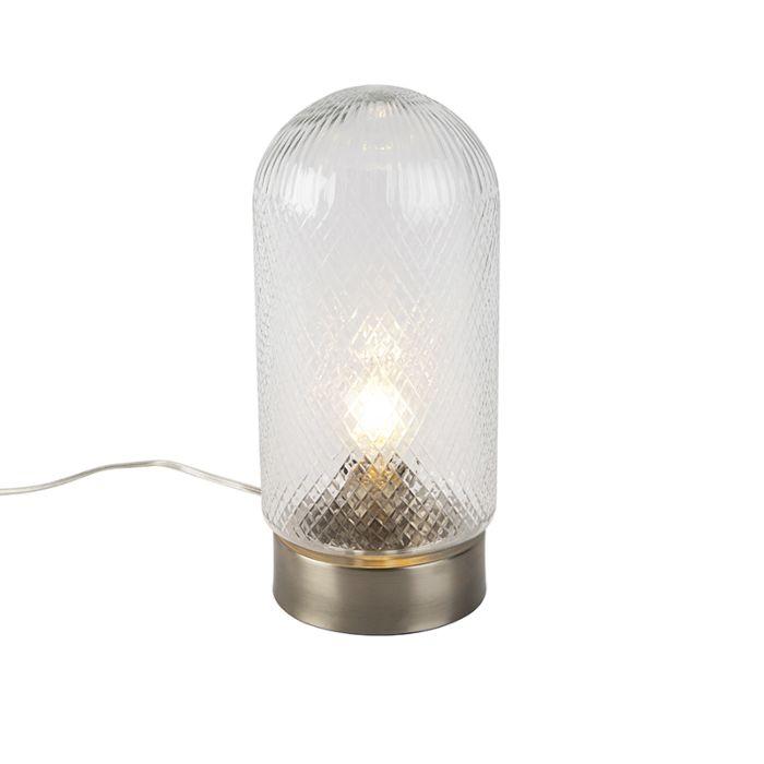 Lámpara-de-mesa-vintage-cilíndrica-vidrio-decorada-con-dorado-grande---BARDO