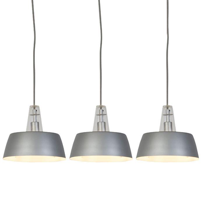 Set-de-3-lámparas-colgantes-modernas-grises-con-LED---MANU