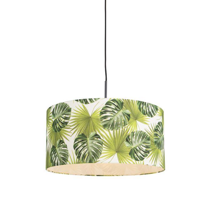 Lámpara-colgante-orgánica-negra-pantalla-hoja-50cm---COMBI-1