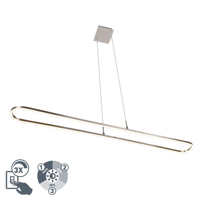 Lámpara-colgante-moderna-acero-con-regulador-3-estados-incluido-LED---CHARLIE