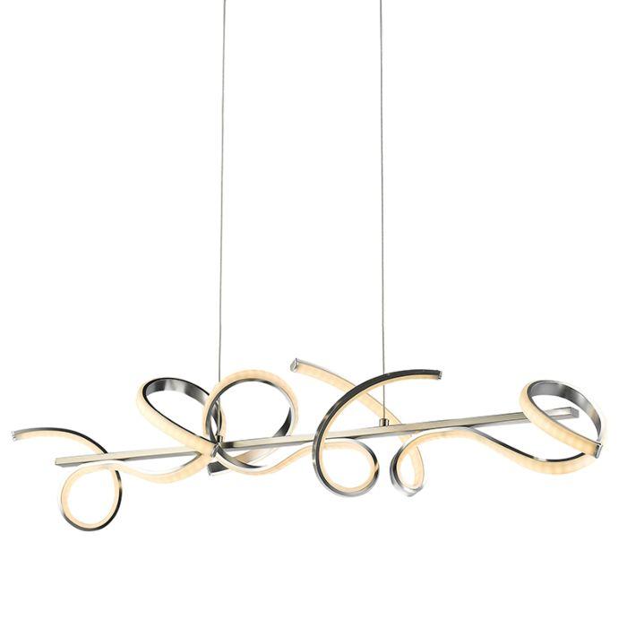 Lámpara-colgante-de-acero-rizado-con-LED-de-100-cm---Krisscross