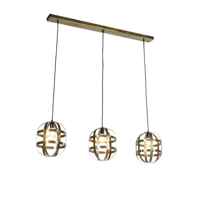 Lámpara-colgante-industrial-3-luces-bronce---Valla