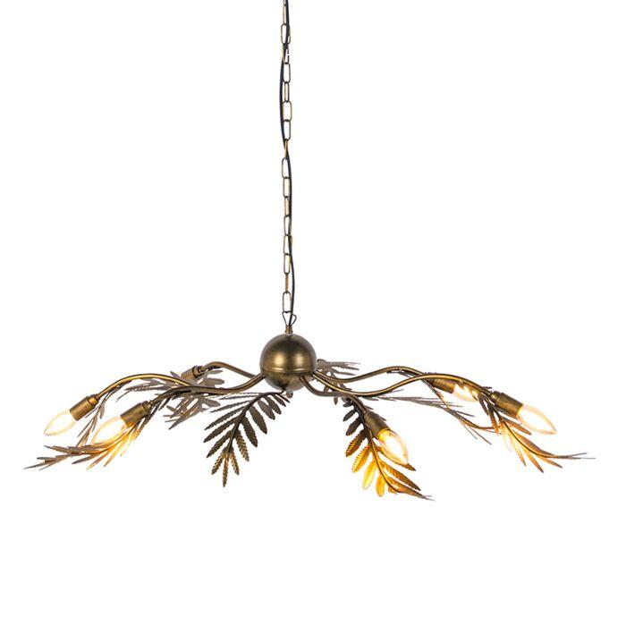 Lámpara-colgante-vintage-6-luces-oro---BOTANICA
