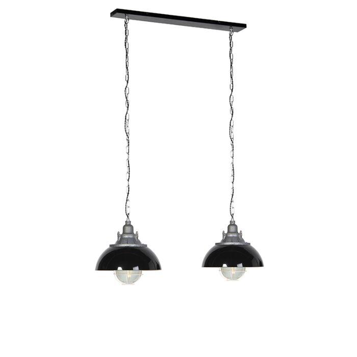 Lámpara-colgante-industrial-negra-2-luces---NELLY