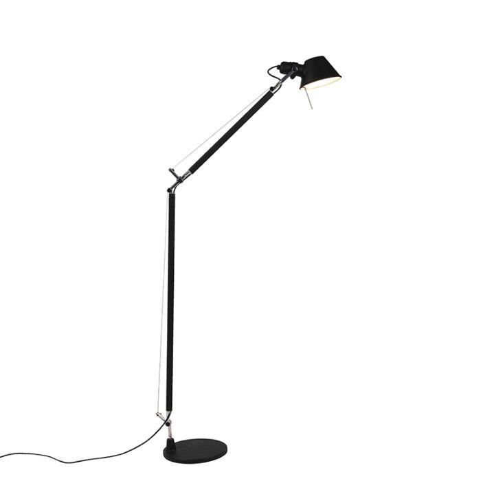 Artemide-lámpara-de-pie-negra-ajustable---Tolomeo-Lettura