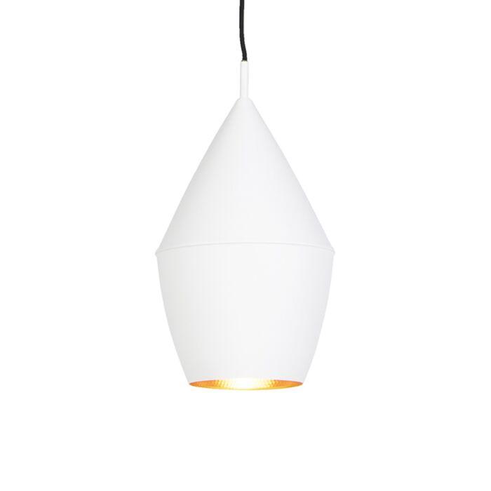 Lámpara-colgante-moderna-blanca-con-interior-dorado---JACOB