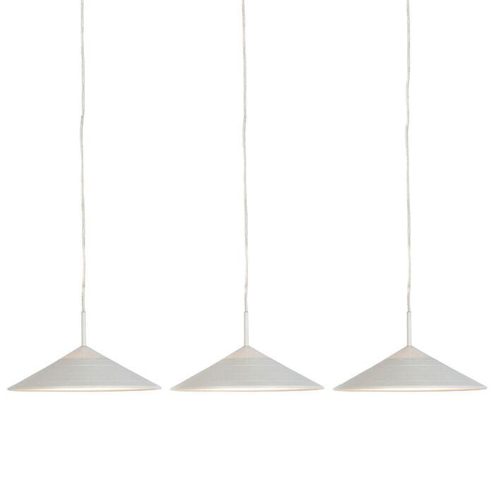 Set-de-3-lámparas-colgantes-modernas-blancas-con-LED---LUPOS