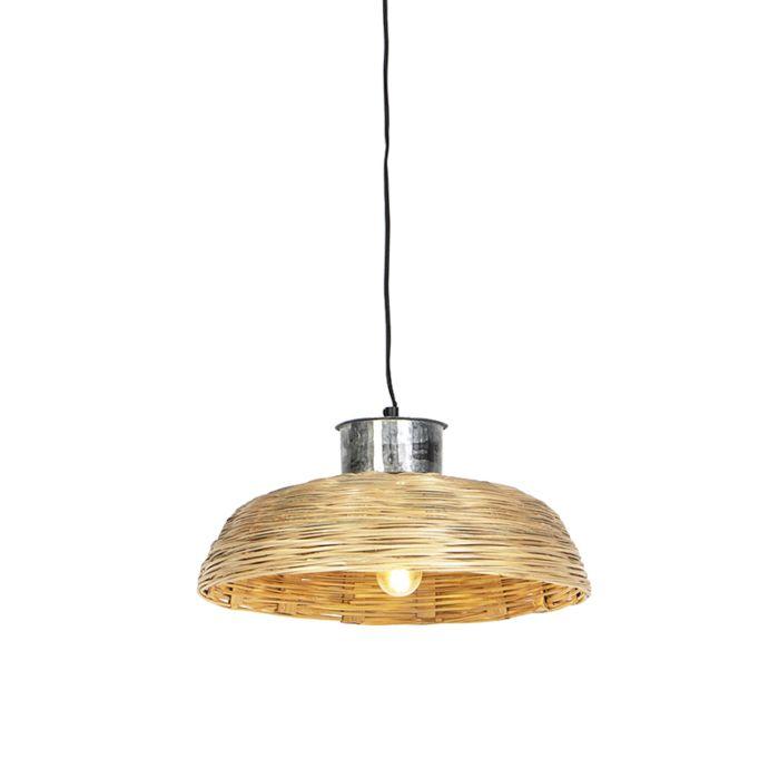 Lámpara-colgante-country-bambú-natural-40-cm---Cebada