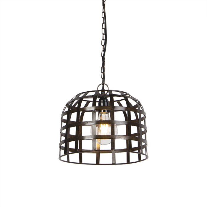 Lámpara-colgante-industrial-30cm-acero-oscurecido---FENCE