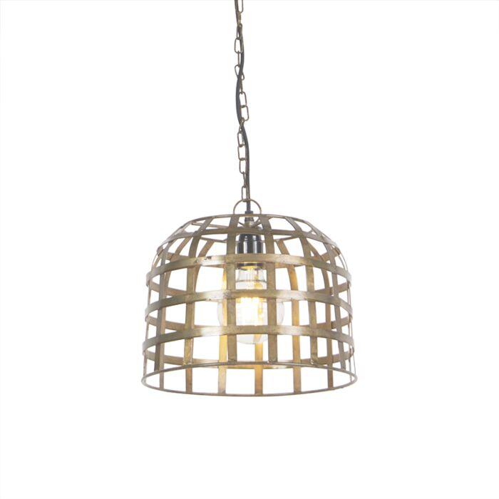Lámpara-colgante-industrial-30-cm-bronce---Valla