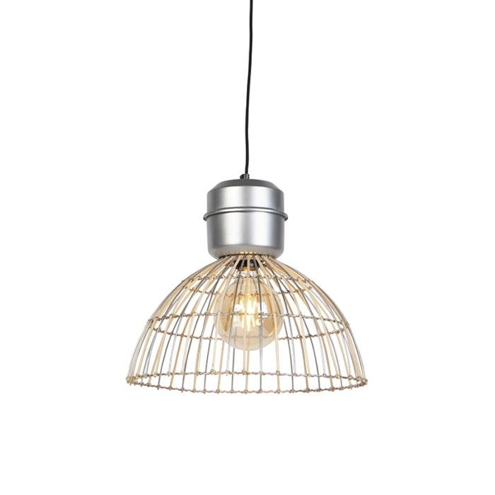 Lámpara-colgante-rústica-mimbre-acero-40cm---MAGNA-Rattan