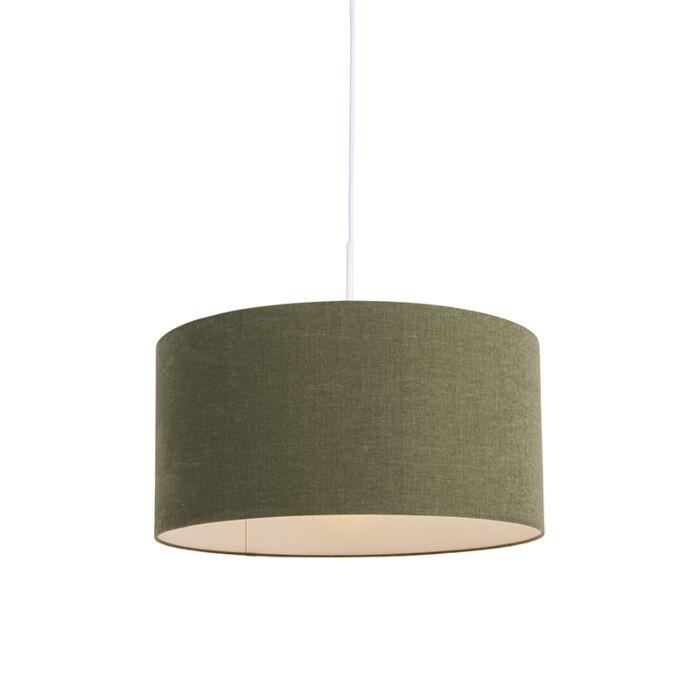 Lámpara-colgante-blanca-con-pantalla-verde-50-cm---Combi-1