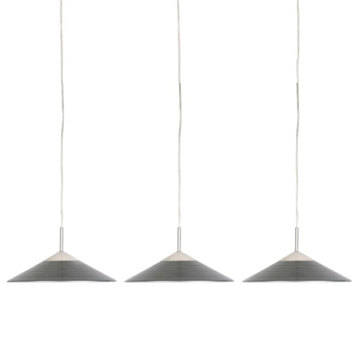 Set-de-3-lámparas-colgantes-modernas-gris-con-LED---LUPOS