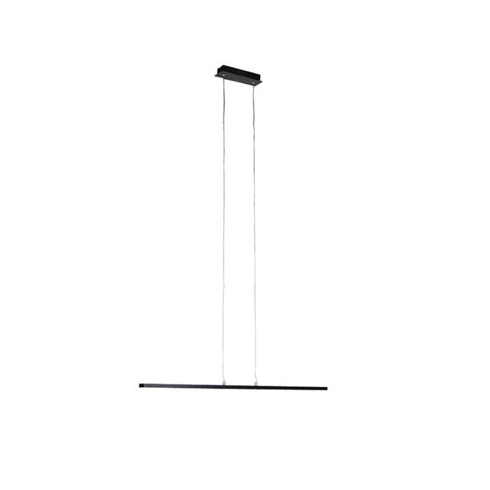 Lámpara-colgante-moderna-alargada-negra-90cm-LED---BANDA
