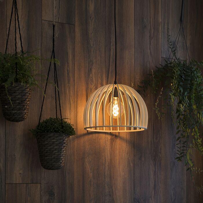 Lámpara-colgante-art-déco-redonda-madera-35cm---TWAIN