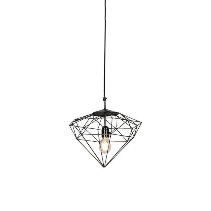 Lámpara-colgante-industrial-gris-oscuro-30cm---DIAMOND-
