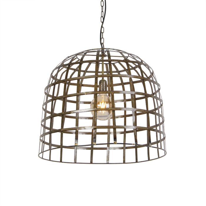Lámpara-colgante-industrial-60-cm-bronce---Valla