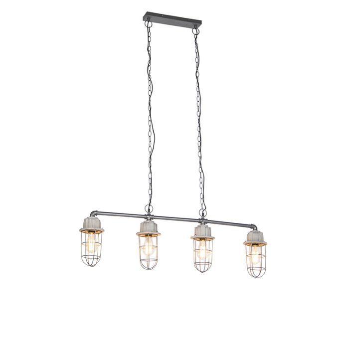Lámpara-colgante-industrial-hormigón-4-luces---Mighty