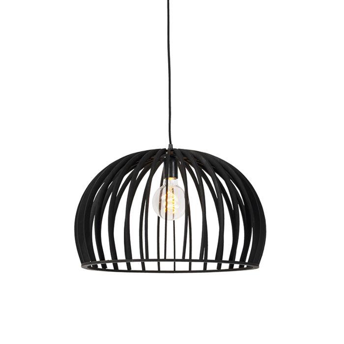 Lámpara-colgante-art-deco-de-madera-negra-50-cm---Twain