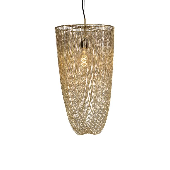 Lámpara-colgante-oriental-dorada---CATENA-NICHEL-